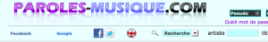 Screenshot of English language selector, represented by a circular Union Jack button