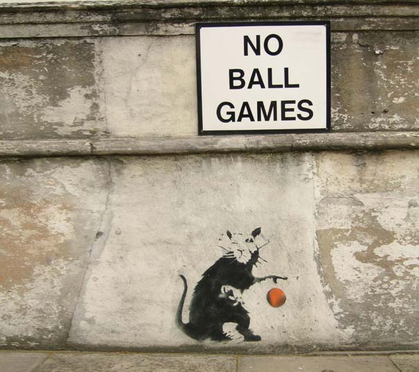 banksy-graffiti-street-art-no-ball-games-rat